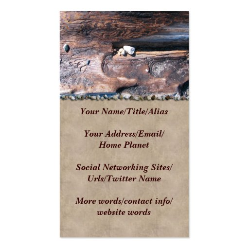 Rocks In Log Business Card Template
