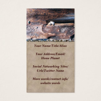 Rocks In Log Business Card