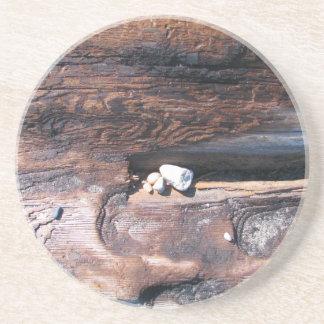 Rocks In Log Sandstone Coaster