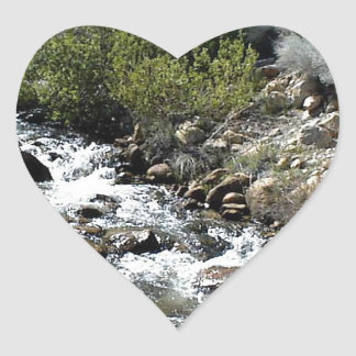 Rocks in the Stream Heart Stickers