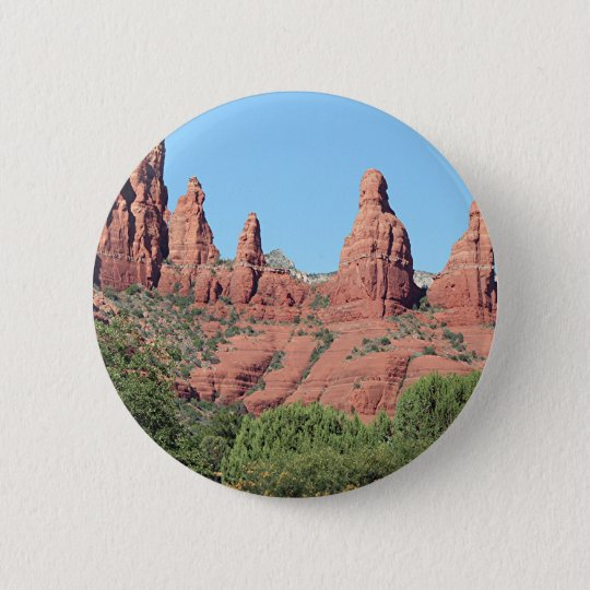 Rocks near Sedona, Arizona,USA 2 6 Cm Round Badge