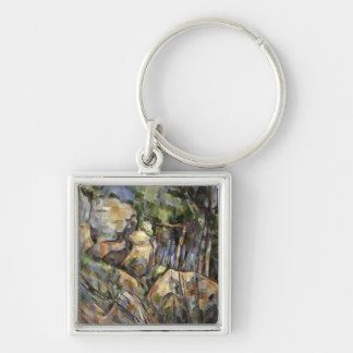 Rocks near the Caves below the Chateau Noir, c.190 Silver-Colored Square Key Ring