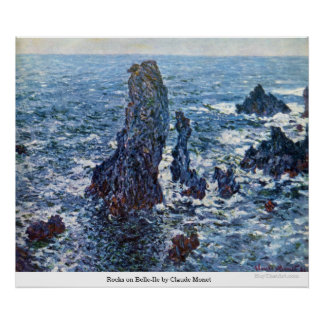 Rocks on Belle-Ile by Claude Monet Poster