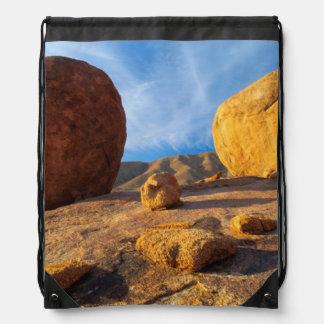 Rocks On Plateau, Richtersveld Transfrontier Drawstring Bag