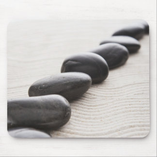 Rocks on sand mouse mat