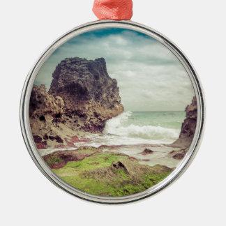 Rocks on the beach03 christmas ornament