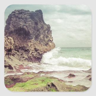Rocks on the beach03 square sticker