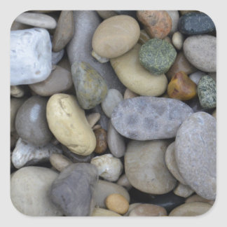 Rocks on the Beach Square Sticker