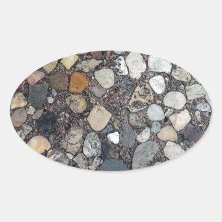 Rocks Oval Sticker