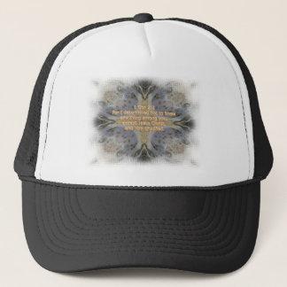 Rocks pattern cross Christian bible verse product Trucker Hat