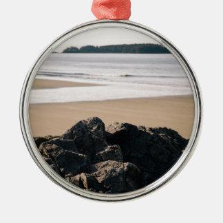 Rocks Silver-Colored Round Decoration