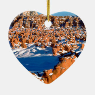 Rocks Snowcovered Goblin Valley Utah Christmas Ornament