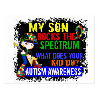 Rocks Spectrum Autism Son Postcard