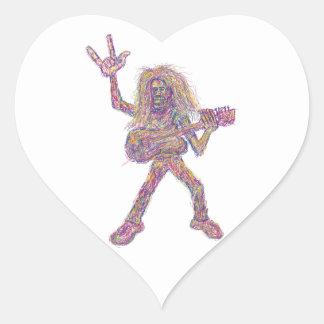 rockstar art sticker