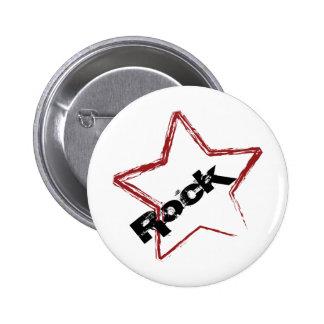 Rockstar Design 6 Cm Round Badge