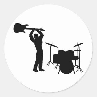 Rockstar drum guitar smasher stickers