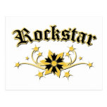 Rockstar Fashion Design Postcard
