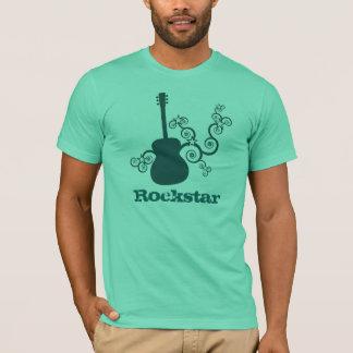 Rockstar Guitar Men's Shirt, Dark Teal T-Shirt