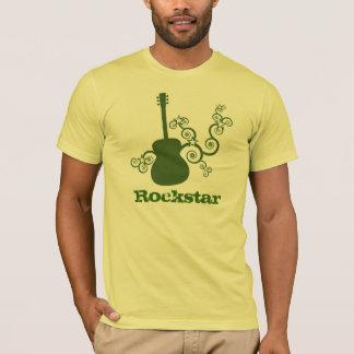 Rockstar Guitar Men's Shirt, Green T-Shirt