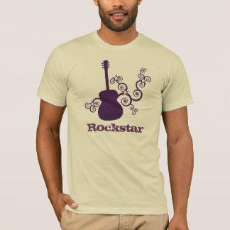 Rockstar Guitar Men's Shirt, Purple T-Shirt