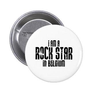 Rockstar In Belgium 6 Cm Round Badge