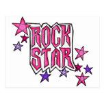 RockStar in PInk Postcard