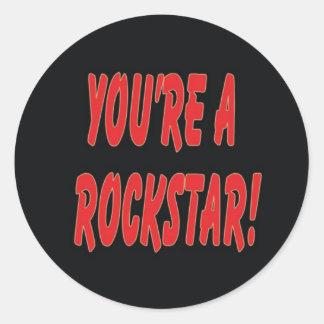 rockstar.jpg classic round sticker