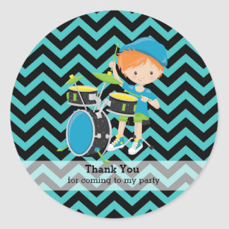 Rockstar party classic round sticker