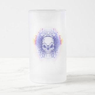 Rockstar Skull - Frosted Glass Stein