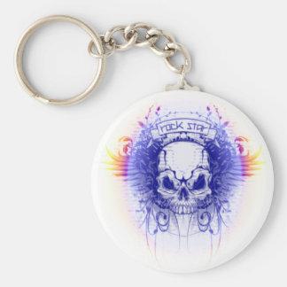 Rockstar Skull -  Keychain