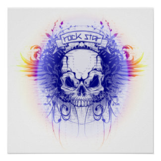 Rockstar Skull - Poster
