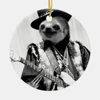 Rockstar Sloth #2 Christmas Ornament