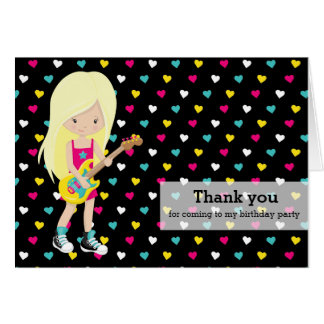 Rockstar Thank you Greeting Card