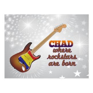 Rockstars are born in chad post card