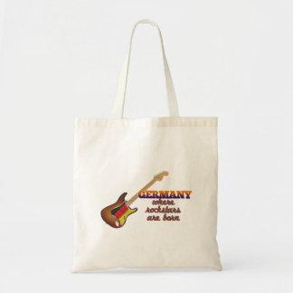 Rockstars are born in Germany Budget Tote Bag