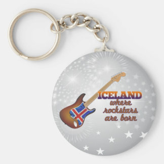 Rockstars are born in Iceland Key Ring