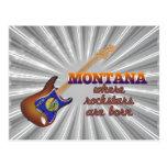 Rockstars are born in Montana Postcard