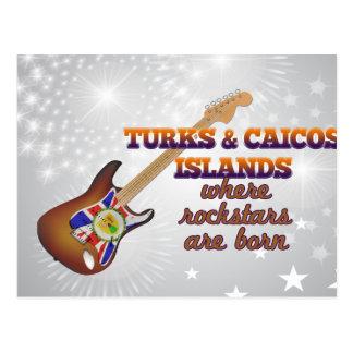 Rockstars are born in Turks and Caicos Islands Post Card
