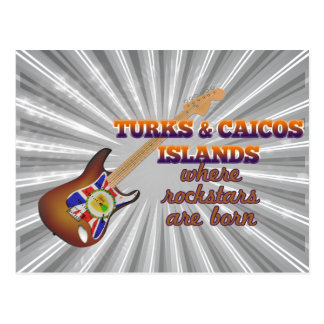 Rockstars are born in Turks and Caicos Islands Post Card
