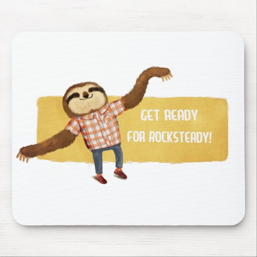 Rocksteady Sloth Mouse Pads