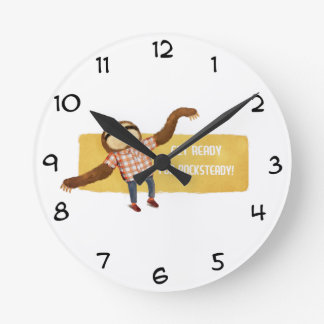 Rocksteady Sloth Round Clock