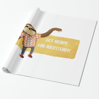 Rocksteady Sloth Wrapping Paper