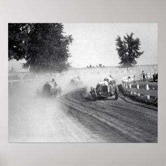 Rockville Fair Auto Races, 1923. Vintage Photo Poster