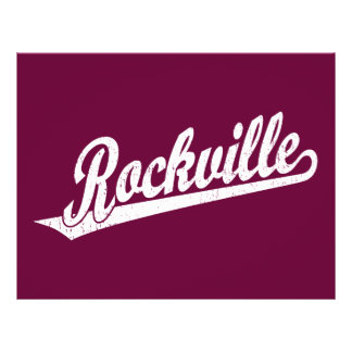 Rockville script logo in white distressed 21.5 cm x 28 cm flyer