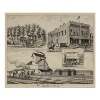 Rockwel County, Kansas Poster