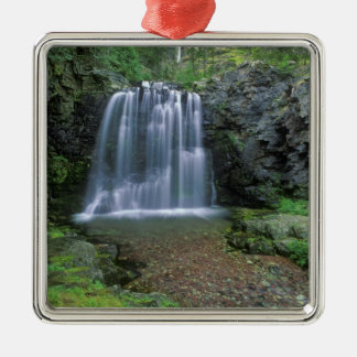 Rockwell Falls in the Two Medicine Valley of Christmas Ornament