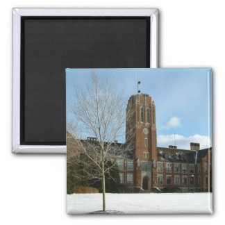 Rockwell in Winter Grove City College Photography Square Magnet