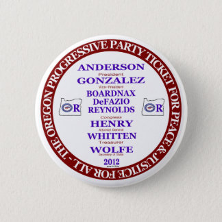 Rocky Anderson Oregon Progressive Party Ticket 6 Cm Round Badge