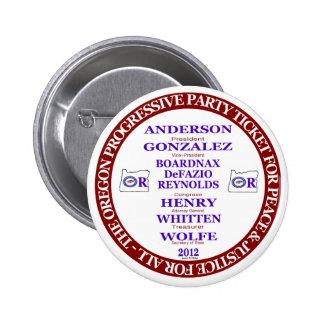 Rocky Anderson Oregon Progressive Party Ticket 6 Cm Round Badge