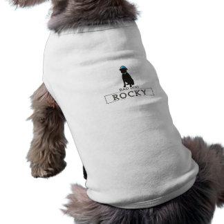 Rocky - Bad Dog Logo - Blue Hat - Dog T-Shirt